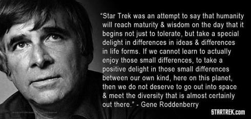 Gene Roddenberry (1921-1991), creator of Star Trek